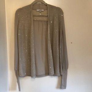 Loft Long-Sleeved Sequined Sweater, Size Medium